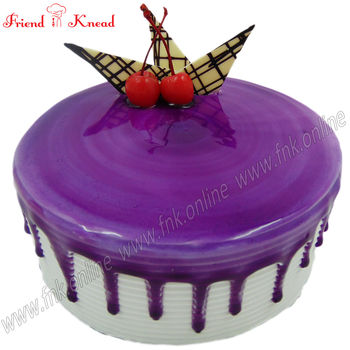 Eggless Blueberry Cake, 0.5 kg, select time, eggless