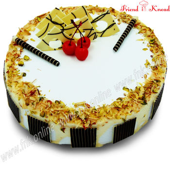 Eggless Milk & Nut Cake, 0.5 kg, select time, eggless