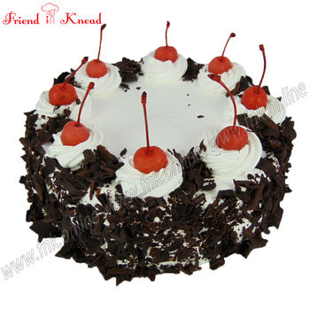 Eggless Black Forest Cake, 0.5 kg, select time, eggless