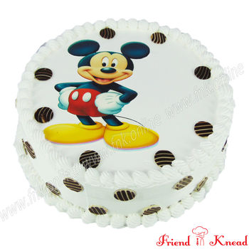 Hello Mickey Photo Cake, 1 kg, choice 1, egg