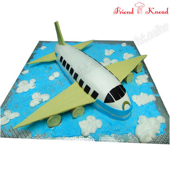 FNK Aircraft - Airplane Theme Cake, 4 kg, egg