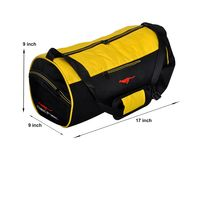 Gym Bag - -Round shape (MN-0288-YLW-BLK)