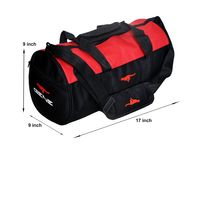 Gym Bag - -Round shape (MG-1014-RED-BLK)