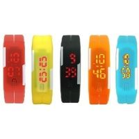 3wish LED RUBBER MAGNET RED YELLOW BLACK ORANGE BLUE Digital Watch - For Boys, Girls, Men, Women