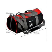 Gym Bag - -Round shape (MN-0282-RED-BLK)