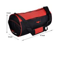 Gym Bag - -Round shape (MN-0288-RED-BLK)