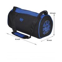 Gym Bag - Round shape (M-0273-BLU-BLK)