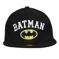 Capskart Snapback Fashion Cap with Batman Embroidery Black