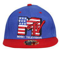 Capskart Snapback Fashion Cap with MTV Embroidery R Blue/Red