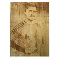 Photo Laser Engraved Wooden Plaque Large YashGifts. in