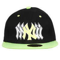 Capskart Snapback Fashion Cap with NY Embroidery Black Green