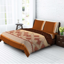Tangerine Desert Safari 100% Cotton Bedsheet Set 1440371