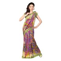 7 Colors Lifestyle Faux Georgette Geometric Printed Saree - ABCSR553ASUHM