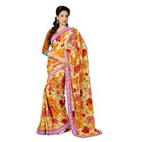 7 Colors Lifestyle Faux Georgette Printed Saree - ABISR558ASUHM
