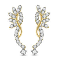 Eve Diamond Earrings- BATS0522ER, si - ijk, 18 kt