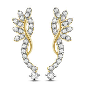 Diamond Earrings - BATS0522ER, si - ijk, 14 kt