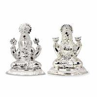 Silver Laxmi Ganesh Idols-RILG005