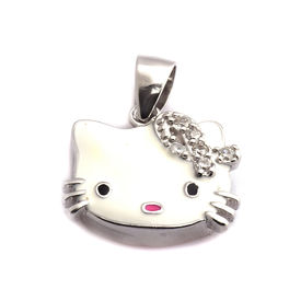 Cute Hello Kitty Sterling Silver Pendant-PDMX005