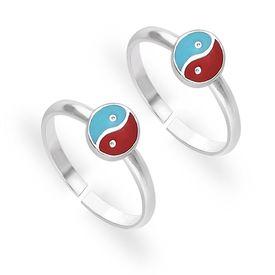 Winsome Enamel Sterling Silver Toe Ring-TR427