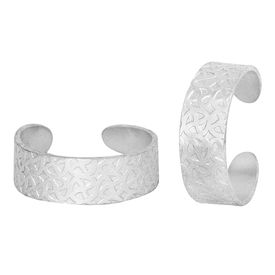 Beauteous Plain Engraved Silver Toe Ring-TRRD025