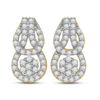 Diamond Earrings - AMPS0202ER, si - ijk, 18 kt