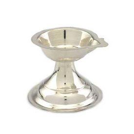 Ekmukhi Silver Diya Lamp-MJD004