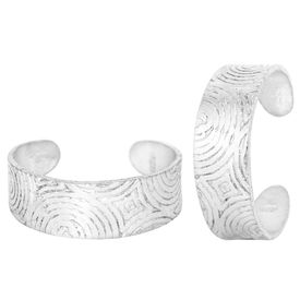 Beauteous Plain Engraved Silver Toe Ring-TRRD028