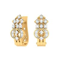 Quad Diamond Bali Earrings-RBL0047, vs-gh, 18 kt