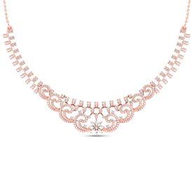 Classic Clutch Diamond Necklace-RBN0093