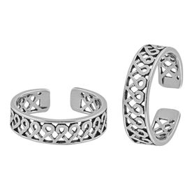 Awesome Cutwork Sterling Silver Toe Ring-TR368