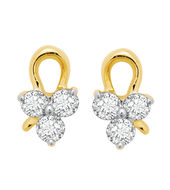 Cute Earrings - BAPS189ER, si - ijk, 14 kt