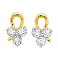 Cute Earrings - BAPS189ER, si - ijk, 18 kt