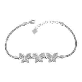 Majestic Butterfly Zircon Sterling Silver Bracelete-BR022