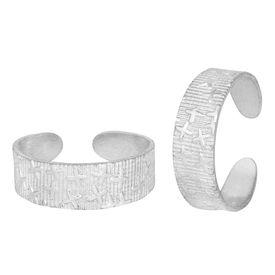Classy Plain Comfortable Silver Toe Ring-TRRD005
