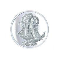 Radha Krishna 10 Grams 999 Silver Coin-C02G10