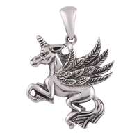 Flying Horse Silver Pendant-PDMX047