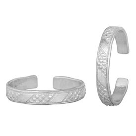 Vibes Silver Toe Ring-TRRD042
