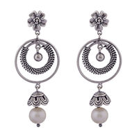 Interwined Flower Drop Earrings-ER078