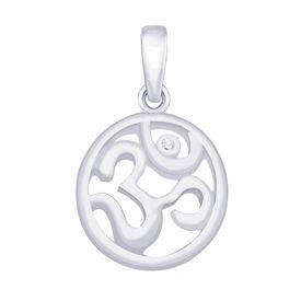 Circular OM Silver Pendant-PD161