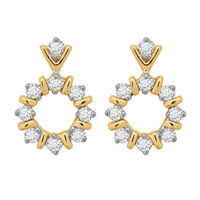 Diamond Earrings - DAER089, si - ijk, 18 kt