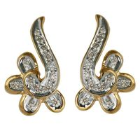 Twisted Diamond Earrings- BAPS1701ER, si - ijk, 18 kt