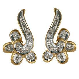 Diamond Earrings - BAPS1701ER, si - ijk, 14 kt