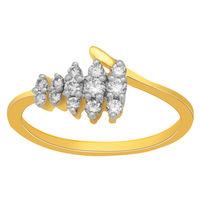 Cute Diamond Ring - BAR1877, si - ijk, 12, 18 kt