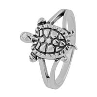 Tortoise Sterling Silver Finger Ring-FRL142, 15