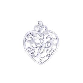 Cut Work Heart Silver Pendant-PD143
