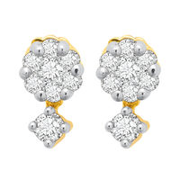 Sway Bloom Diamond Earrings- BAPS227ER, si - ijk, 18 kt