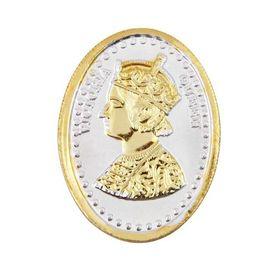 Queen Victoria Gold Polish Oval 10 Grams 999 Silver Coin-CGP2G10