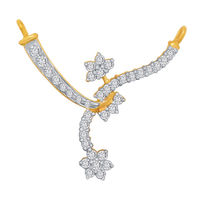 Looped Diamond Mangalsutra- BATS45T, si - ijk, 14 kt