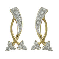 Diamond Earrings - BAPS1562ER, si - ijk, 14 kt