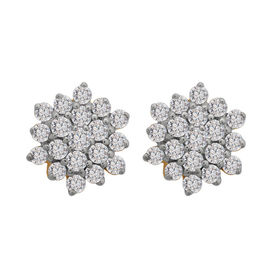Flower Diamond Studs- BATS33ER